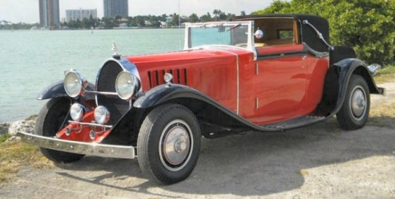 bugatti type 41 royale binder sedanca replica