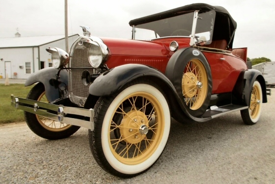 Photo of 1929 Ford Model A All Steel Convertible Roadster  Original Restored Stock