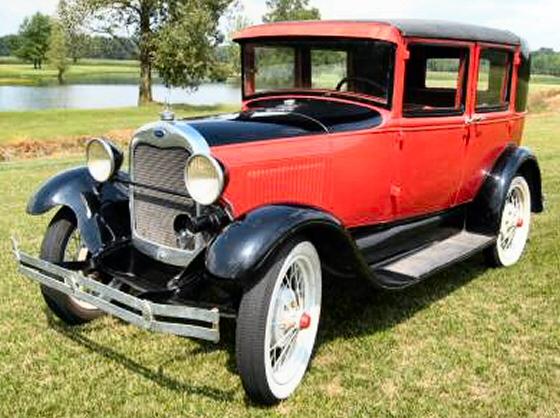 1929 ford model a town car four door sedan for 1929 ford model a 4 door sedan