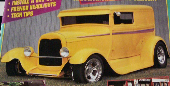 Photo of 1929 Ford Sedan Delivery Street Rod, Magazine Cover Car