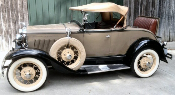 Photo of  1931 Ford Model Roadster With Two Fender Mounted Spare Tires