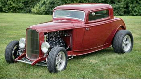 Photo of 1932 FORD 3 WINDOW COUPE STREET ROD WITH FIBERGLASS BODY