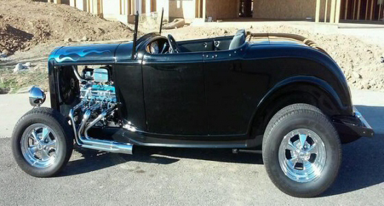 Photo of 1932 Ford Highboy Convertible Coupe Street Rod With Fiberglass Body