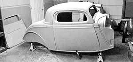 Photo of 1934 FORD 3 WINDOW GLASS CHOPPED COUPE BODY BY SHOWTIME RODS
