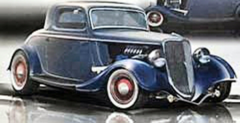 Photo of 1934 Ford 3 Window Coupe Street Rod SEMA Show Winner