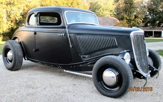 1934 ford 5 window coupe tastefully chopped street rod for 1934 ford 5 window coupe street rod