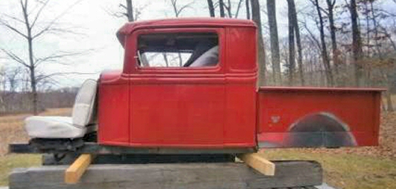 Photo of 1934 FORD CHOPPED AND EXTENDED FIBERGLASS PICK-UP TRUCK  ROD BODY ONLY