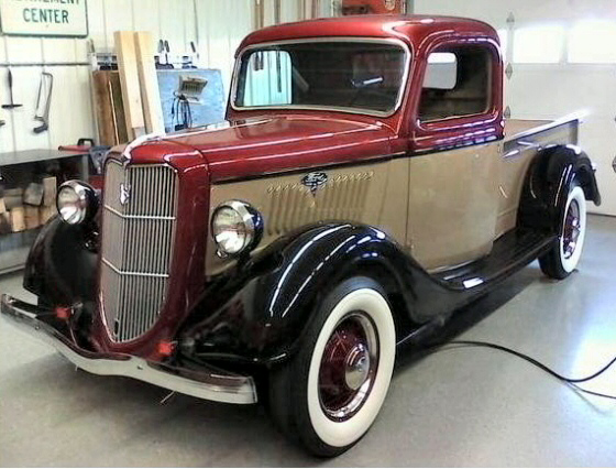 Photo of 1935 Ford 1/2 Ton Pickup All Steel With Flathead V8 Restored