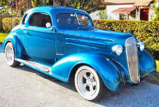 1936 Chevrolet 5 Window Coupe  Street Rod
