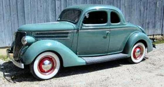 1936 FORD COUPE RESTORED FACTORY STOCK For Sale