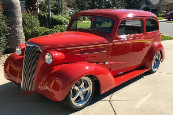 Photo of 1937 Chevy 2 DR Sedan Street Rod With Hand Painted Graphics