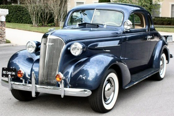 Photo of 1937 Chevrolet 5 Window  Coupe All Steel Restored  To Original