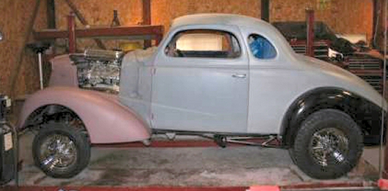 Photo of 1937 Chevy Gasser Coupe Street Rod Project