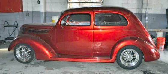 1937 ford 2 door sedan slant back street rod all steel for 1937 ford 2 door slant back