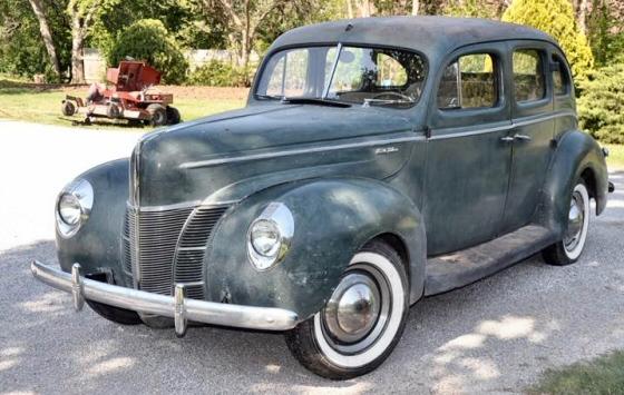 1940 ford deluxe 4 door sedan all original showing 56 710 for 1940 ford 4 door sedan