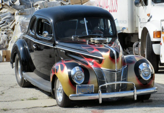 Photo of 1940 Ford Deluxe Coupe Street Rod With Big Block Chevy and Blower