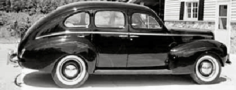 1940 mercury 4 door Sedan