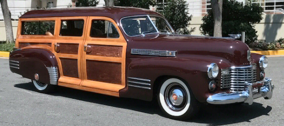 1941 cadillac station wagon restored rare. Black Bedroom Furniture Sets. Home Design Ideas