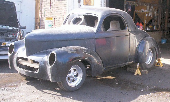 1941 Willys Coupe Street Rod Project - Glass Body