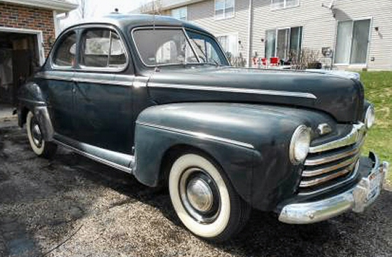 Photo of 1946 Ford Super Deluxe business Coupe Stock Original