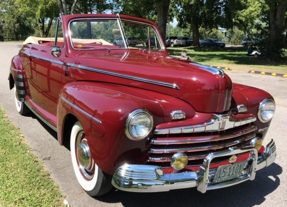Photo of 1946 Ford Super DeLuxe Convertible Professionally Restored