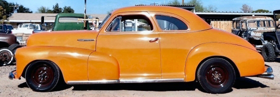 Photo of  1947 Chevy Fleetmaster Coupe Street Rod On 1966 Impala Chassis