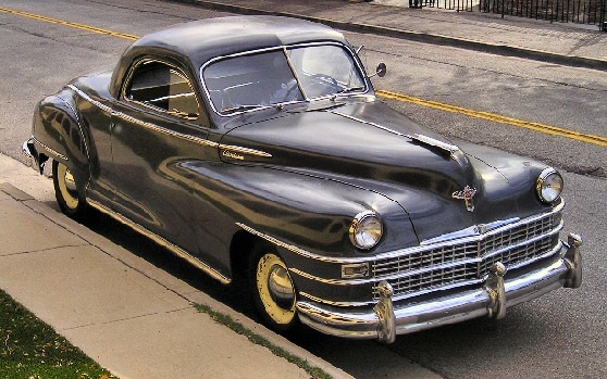 1947 Chrysler Royal 3 window business coupe