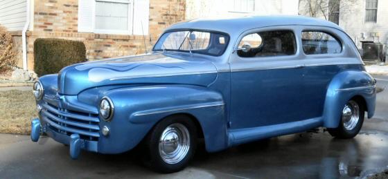 1948 ford 2 door sedan chopped street rod for 1948 ford two door sedan