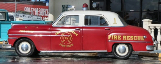 1950 Desoto Smokie Mountain Fire Chief Car Lights and Sirens