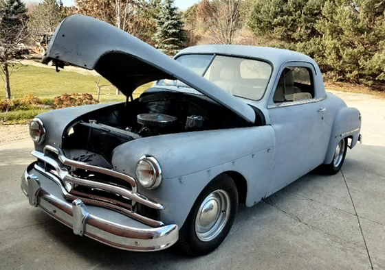 1950 plymouth three window business coupe street rod for sale