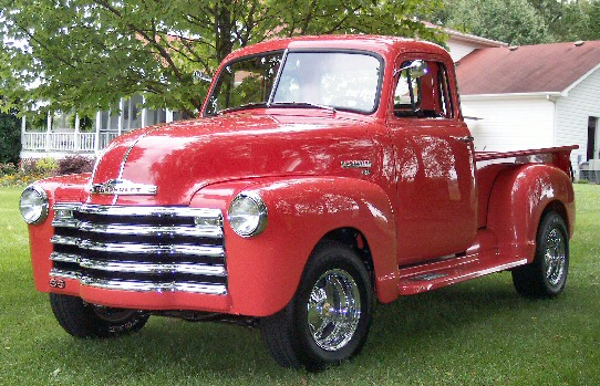 1951 Chevy Pickup - Street Rod 350 V-8 with auto & power steering,