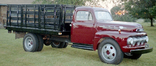1952 Ford F6 Truck with stake bed