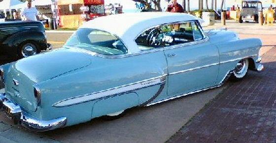 1954 chevy belair 2 door hardtop street rod