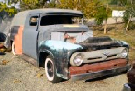 1956 Ford F100 Chopped Pro Street Pickup Tube Chassis For Sale