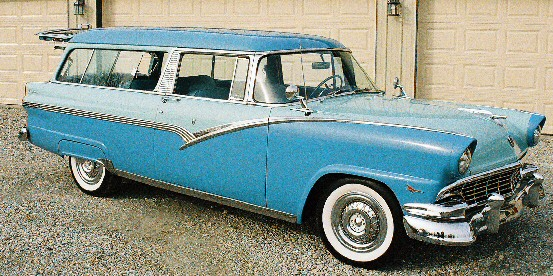 1956 ford parklane supercharged two door wagon for 1956 ford wagon 2 door