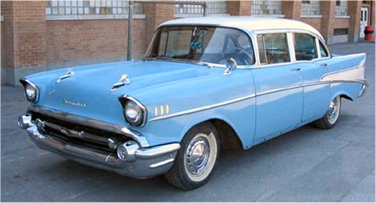 1957 chevrolet bel air 4 doors sedan