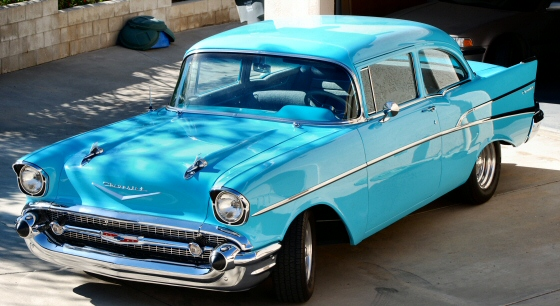 Photo of 1957 Chevy 210 2Dr Post,California Black Plate Car