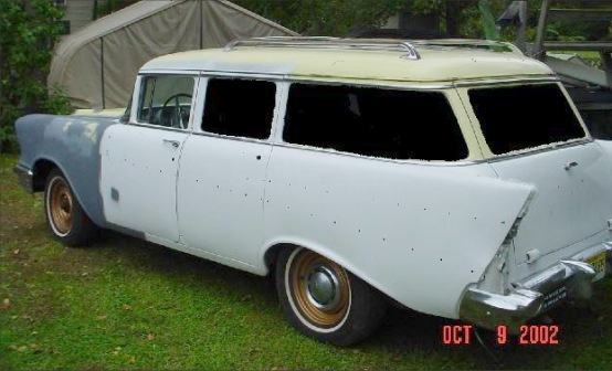 1957 chevy 4 door 210 wagon
