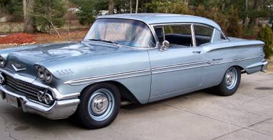Photo of 1958 CHEVY BISCAYNE 2 DR 348 V8 TRI POWER WITH STICK