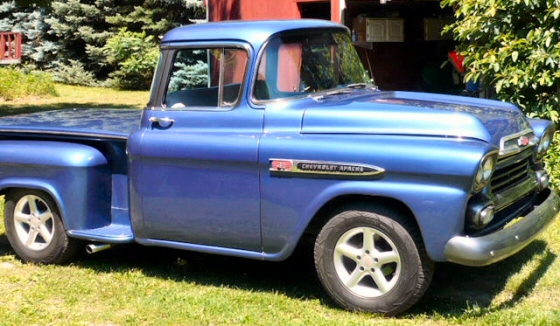 Photo of 1959 Chevy Apache 1/2 ton Stepside Big Window Pickup Truck