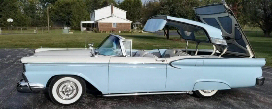 Photo of  1959 Ford Skyliner Retractable Convertible Restored