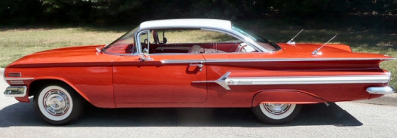 Photo of 1960 Chevy Impala Bubble Top Sports Coupe