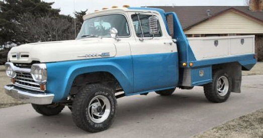 1960 FORD F100 4X4 1/2 TON SHORT BED TRUCK