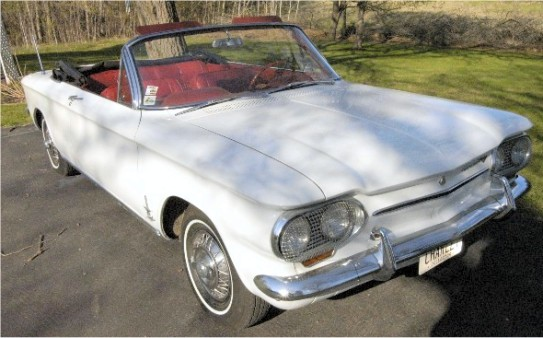 1963 4 speed 150 hp turbocharged Corvair Monza Spyder Convertible