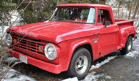 1966 DODGE D100 RED PICKUP TRUCK