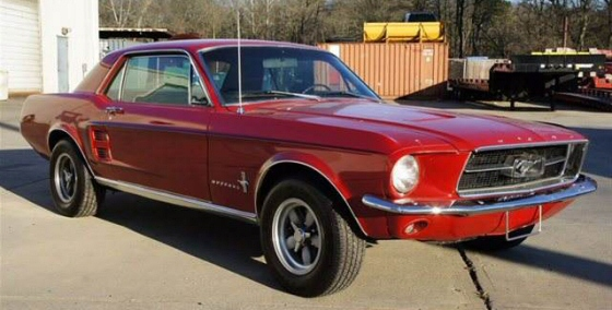 photo of 1967 ford mustang coupe - Red 1967 Ford Mustang Coupe