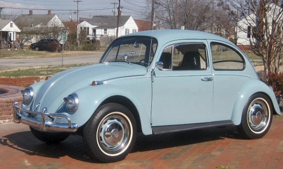 Photo Of 1967 Volkswagen Beetle Light Blue Exterior
