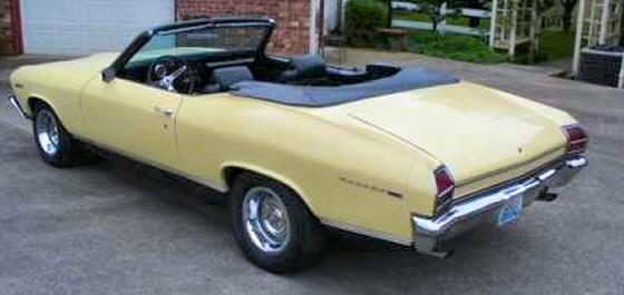 Photo Of 1969 Chevelle Malibu Convertible
