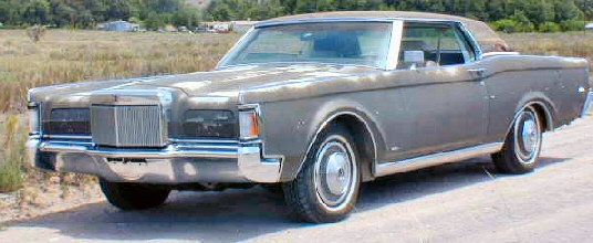 1970 Lincoln Continental Mark III two-door coupe