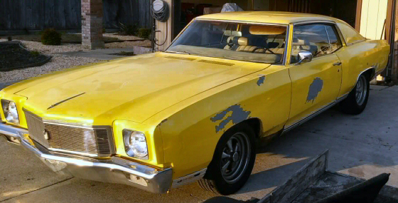 Photo of  1971 Chevy Monte Carlo With 4 Speed Manual Transmission